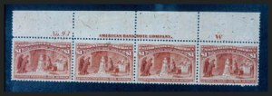 Sale Number 267, Lot Number 57, Columbian Issue$1.00 Columbian (241), $1.00 Columbian (241)