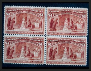 Sale Number 267, Lot Number 62, Columbian Issue$1.00 Columbian (241), $1.00 Columbian (241)