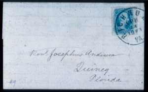 Sale Number 330, Lot Number 209, Confederate States10c Milky Blue, TEN (9), 10c Milky Blue, TEN (9)
