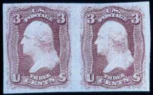 Sale Number 330, Lot Number 82, 1867-68 Grilled Issues3c Rose, F. Grill, Imperforate (94b), 3c Rose, F. Grill, Imperforate (94b)