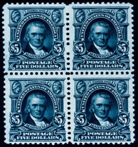 Sale Number 391, Lot Number 110, 1902-08 Issue$5.00 Dark Green (313), $5.00 Dark Green (313)
