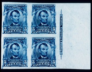 Sale Number 391, Lot Number 111, 1902-08 Issue5c Blue, Imperforate (315), 5c Blue, Imperforate (315)