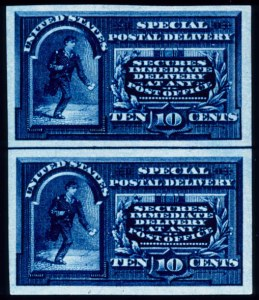 Sale Number 391, Lot Number 197, Postage Due thru Revenue10c Blue, Special Delivery, Imperforate (E4a), 10c Blue, Special Delivery, Imperforate (E4a)