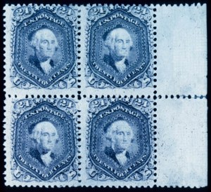 "Sale Number 391, Lot Number 66, 1867-68 Grilled Issues24c Gray Lilac, ""P"" Grill (99), 24c Gray Lilac, ""P"" Grill (99)"