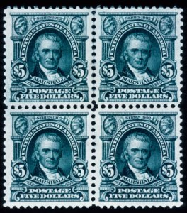 Sale Number 428, Lot Number 136, 1902-08 Issue$5.00 Dark Green (313), $5.00 Dark Green (313)