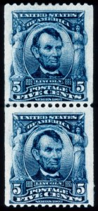 Sale Number 428, Lot Number 139, 1902-08 Issue5c Blue, Coil (317), 5c Blue, Coil (317)