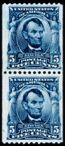 Sale Number 428, Lot Number 140, 1902-08 Issue5c Blue, Coil (317), 5c Blue, Coil (317)