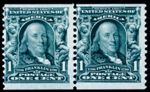 Sale Number 428, Lot Number 141, 1902-08 Issue1c Blue Green, Coil (318), 1c Blue Green, Coil (318)