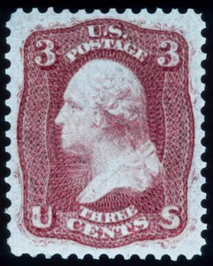 "Sale Number 448, Lot Number 47, 1861-66 Issue3c Brown Rose, ""First Design"" (56), 3c Brown Rose, ""First Design"" (56)"