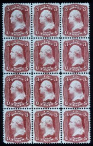 "Sale Number 448, Lot Number 48, 1861-66 Issue3c Brown Rose, ""First Design"" (56), 3c Brown Rose, ""First Design"" (56)"