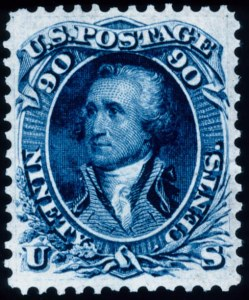 "Sale Number 448, Lot Number 54, 1861-66 Issue90c Dull Blue, ""First Design"" (62), 90c Dull Blue, ""First Design"" (62)"