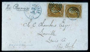 Sale Number 448, Lot Number 60, 1861-66 Issue5c Brown Yellow (67a), 5c Brown Yellow (67a)