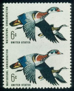 Sale Number 468, Lot Number 188, 1922 and Later Issues6c Waterfowl Conservation, Vertical Pair Imperf. Between (1362a), 6c Waterfowl Conservation, Vertical Pair Imperf. Between (1362a)