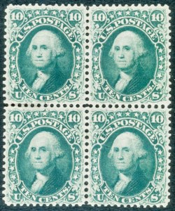 "Sale Number 468, Lot Number 64, 1861-66 Issue10c Dark Green, ""First Design"" (58), 10c Dark Green, ""First Design"" (58)"