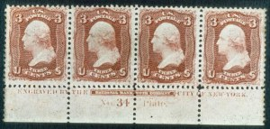 Sale Number 468, Lot Number 68, 1861-66 Issue3c Lake (66). B. Imprint Plate No, 3c Lake (66). B. Imprint Plate No