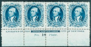 Sale Number 468, Lot Number 72, 1861-66 Issue90c Blue (72). B. Imprint Plate No, 90c Blue (72). B. Imprint Plate No