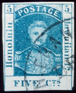 Sale Number 489, Lot Number 288, U.S. Possessions1857, 5c Blue, Double Impression (8a), 1857, 5c Blue, Double Impression (8a)
