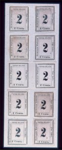 Sale Number 489, Lot Number 299, U.S. Possessions1864, 2c Black (20). Eight Singles & Horiz, 1864, 2c Black (20). Eight Singles & Horiz