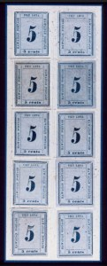 Sale Number 489, Lot Number 300, U.S. Possessions1865, 5c Blue on Blue (21), 1865, 5c Blue on Blue (21)