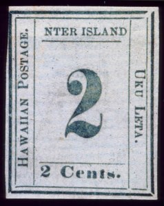"Sale Number 489, Lot Number 305, U.S. Possessions1864, 2c Black on Laid, ""NTER"" Error (24a), 1864, 2c Black on Laid, ""NTER"" Error (24a)"