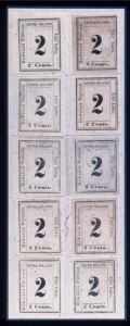Sale Number 489, Lot Number 306, U.S. Possessions1864, 2c Black on Laid (24), 1864, 2c Black on Laid (24)