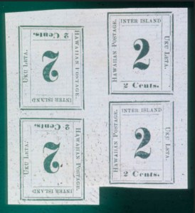 Sale Number 489, Lot Number 307, U.S. Possessions1864, 2c Black on Laid, Tete-Beche Block (24c), 1864, 2c Black on Laid, Tete-Beche Block (24c)