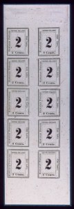 Sale Number 489, Lot Number 309, U.S. Possessions1864, 2c Black on Laid (24), 1864, 2c Black on Laid (24)