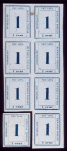 Sale Number 489, Lot Number 310, U.S. Possessions1865, 1c Dark Blue (25), 1865, 1c Dark Blue (25)