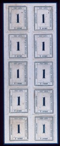 Sale Number 489, Lot Number 311, U.S. Possessions1865, 1c Dark Blue (25), 1865, 1c Dark Blue (25)