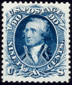 Sale Number 510, Lot Number 102, 1875 Re-Issue of 1861-66 Issue90c Blue, Re-Issue (111), 90c Blue, Re-Issue (111)