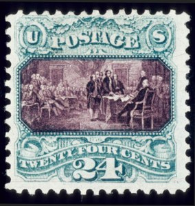 Sale Number 510, Lot Number 109, 1869 Pictorial Issue24c Green & Violet, Without Grill (120a), 24c Green & Violet, Without Grill (120a)