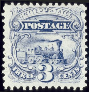 Sale Number 510, Lot Number 117, 1875 Re-Issue of 1869 Pictorial Issue3c Blue, Re-Issue (125), 3c Blue, Re-Issue (125)