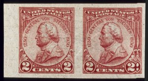 Sale Number 510, Lot Number 200, 1922 and Later Issues2c Yon Steuben, Imperforate (689a). Horiz, 2c Yon Steuben, Imperforate (689a). Horiz