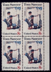 Sale Number 510, Lot Number 205, 1922 and Later Issues8c Tom Sawyer, Yellow & Gray Colors Omitted (1470 var), 8c Tom Sawyer, Yellow & Gray Colors Omitted (1470 var)