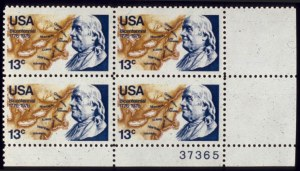 Sale Number 510, Lot Number 210, 1922 and Later Issues13c Benjamin Franklin, Light Blue Color Omitted (1690 var). Mint B.R. Plate No, 13c Benjamin Franklin, Light Blue Color Omitted (1690 var). Mint B.R. Plate No