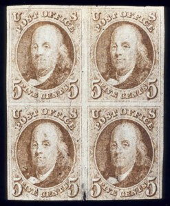 Sale Number 510, Lot Number 24, 1847 Issue5c Red Brown (1), 5c Red Brown (1)