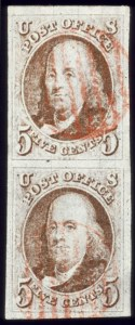 Sale Number 510, Lot Number 25, 1847 Issue5c Red Brown (1), 5c Red Brown (1)
