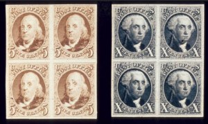 Sale Number 510, Lot Number 33, 1847 Issue5c Red Brown, 10c Black, Reproduction Plate Proofs on Card (3P-4P), 5c Red Brown, 10c Black, Reproduction Plate Proofs on Card (3P-4P)