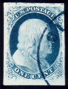 Sale Number 510, Lot Number 38, 1851-56 Issue1c Blue, Ty. III, Position 99R2 (8), 1c Blue, Ty. III, Position 99R2 (8)