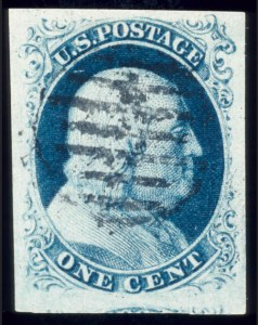 Sale Number 510, Lot Number 39, 1851-56 Issue1c Blue, Ty. III (8), 1c Blue, Ty. III (8)