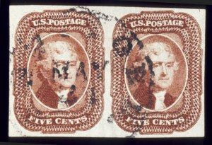 Sale Number 510, Lot Number 43, 1851-56 Issue5c Red Brown (12). Horiz, 5c Red Brown (12). Horiz