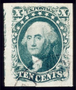 Sale Number 510, Lot Number 50, 1851-56 Issue10c Green, Ty. IV (16), 10c Green, Ty. IV (16)