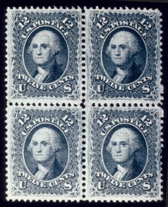 Sale Number 510, Lot Number 89, 1867-68 Grilled Issues12c Black, F. Grill (97), 12c Black, F. Grill (97)
