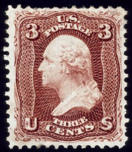 Sale Number 510, Lot Number 93, 1875 Re-Issue of 1861-66 Issue3c Brown Red, Re-Issue (104), 3c Brown Red, Re-Issue (104)