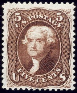 Sale Number 510, Lot Number 94, 1875 Re-Issue of 1861-66 Issue5c Brown, Re-Issue (105), 5c Brown, Re-Issue (105)