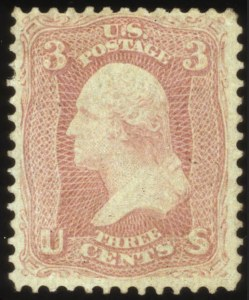Sale Number 560, Lot Number 103, 1861-66 Issue3c Pink (64), 3c Pink (64)