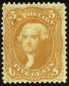 Sale Number 560, Lot Number 105, 1861-66 Issue5c Brown Yellow (67a), 5c Brown Yellow (67a)