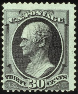 Sale Number 560, Lot Number 159, 1870-93 Bank Note Issues30c Black, Grill (143), 30c Black, Grill (143)