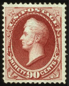 Sale Number 560, Lot Number 160, 1870-93 Bank Note Issues90c Carmine, Grill (144), 90c Carmine, Grill (144)