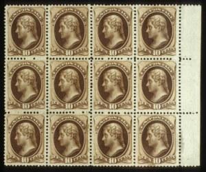 Sale Number 560, Lot Number 163, 1870-93 Bank Note Issues10c Brown (161), 10c Brown (161)